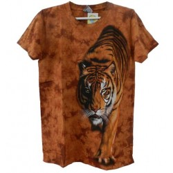 Tričko pro dospělé - tygr hnědý vlevo, hnědá b