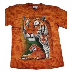 Tričko pro dospělé - tygr hnědý 3x, hnědá b