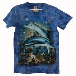 Tričko pro dospělé - moře, modrá b