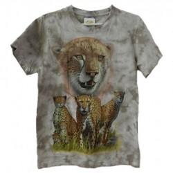 Tričko pro dospělé - gepardi, béžová b