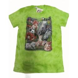 Tričko pro děti - safari, zelená batika