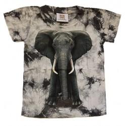 Tričko pro děti - slon, černá batika