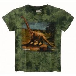Tričko pro děti - Dino euhelopus, zelená batika