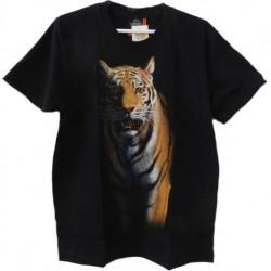 Tričko pro dospělé - tygr hnědý, černá